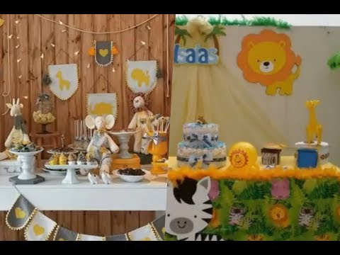 Ideas para baby shower de temática safari