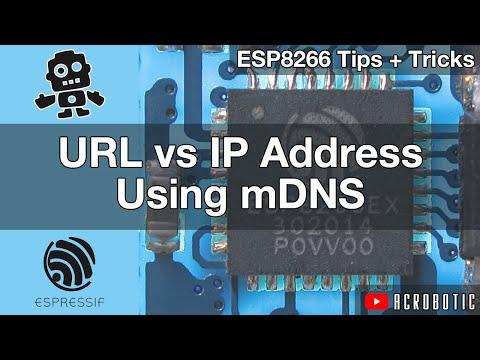 ESP8266 mDNS For Web Address URL Using Arduino IDE (Mac OSX and Windows)
