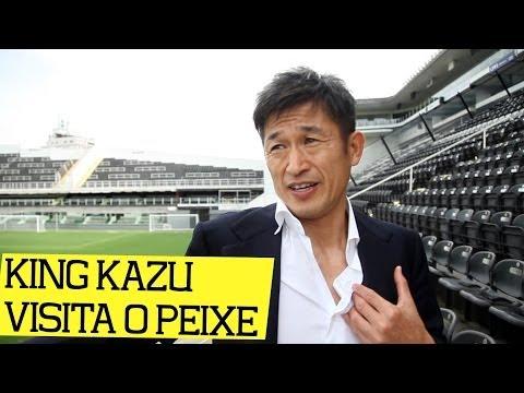 King Kazu visita o Santos FC