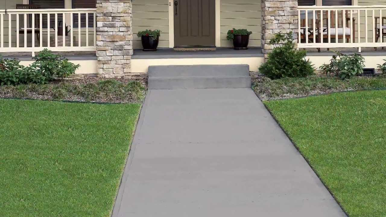 How To: Apply Behr Premium Solid Color Concrete Stain   YouTube