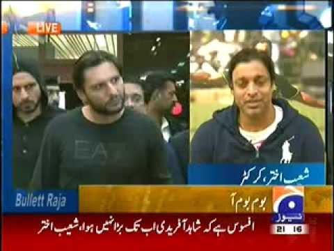 Shahid Afridi v/s Shoaib Akhtar   BIG Media FIGHT
