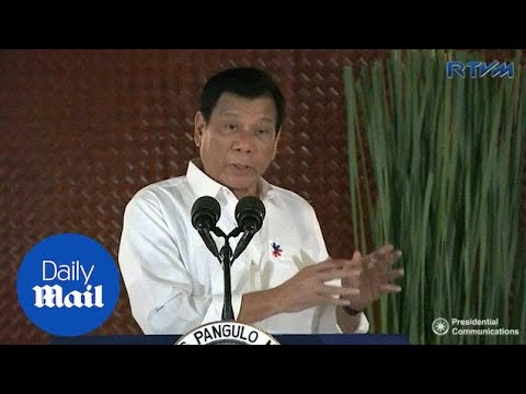 President Duterte calls for U.S. troops to leave the Philippines - Daily Mail