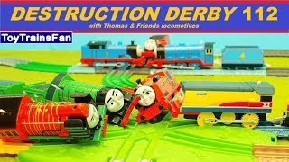 Thomas & Friends Destruction Derby #112 - Trackmaster and Plarail toy trains for kids competition thumbnail