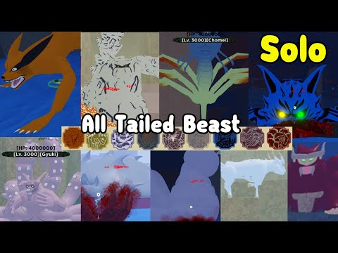 Defeat All Tailed Beast Solo! Unlocked All Tailed Beast Mode! - Shinobi Life 2 Roblox