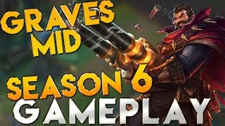 Graves Rework Mid Gameplay Season 6 - League of Legends Season 6 Graves Gameplay