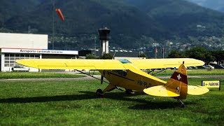 Crossing the Swiss Alps: Flight from Locarno (LSZL) to Fricktal (LSZI) in a Piper Super Cub