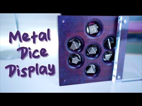Gift for a DM, DIY Metal Dice Display