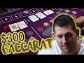 $300 BACCARAT SESSION - Mikey's Casino Run