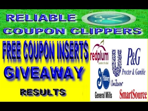 FREE COUPON INSERTS GIVEAWAY – RELIABLE COUPON CLIPPERS ( Results ) EXTREME COUPONING