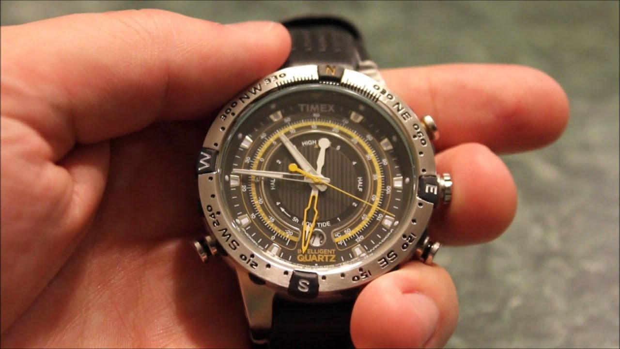 Timex intelligent quartz compass perpetual calendar watch review youtube for Watches with compass