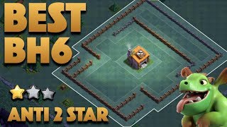 Best BH6 Pushing Base | Builder Hall Level 6 Base Anti 2 Star + Proof | Clash Of Clans