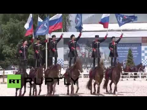 Russia: Kremlin's horse riders showcase their skills on Russia Day
