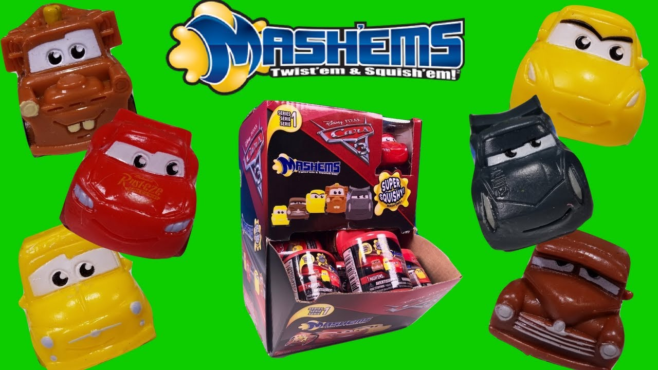 Squishy Cars 3 Mash`ems ~ Opening a FULL SET of Surprise Kid Toys Video - YouTube