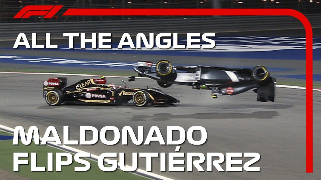Download Maldonado Flips Gutierrez - All The Angles   2014 Bahrain Grand Prix