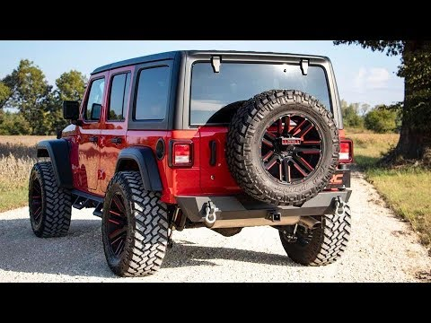 Jeep Wrangler JL Rear Trail Bumper with Tire Carrier by Rough Country