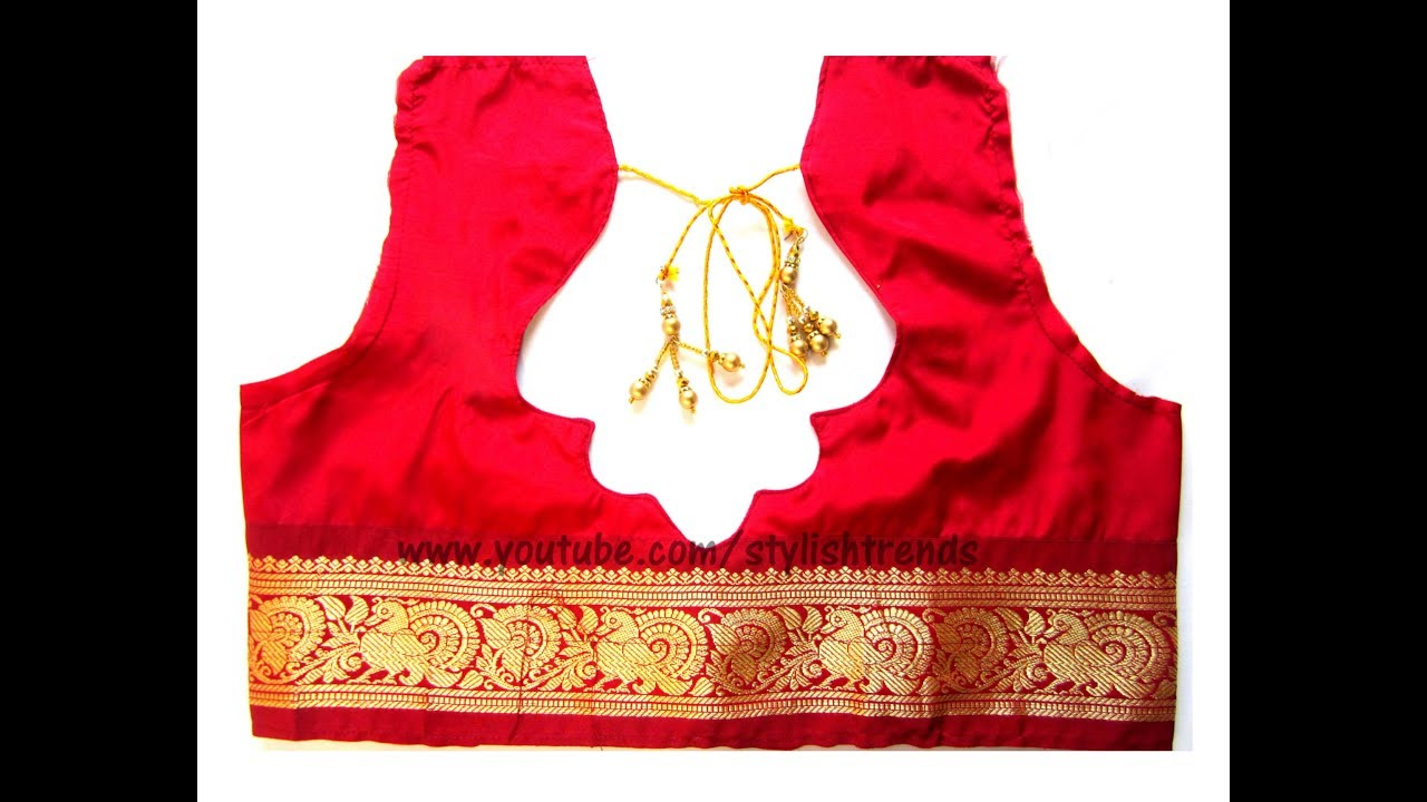 Pattu Silk Designer Blouse Cutting   Stitching in Telugu -10 (DIY ... 46bff401d1