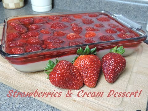 Strawberries & Cream Dessert! (No-Bake) Ep #136