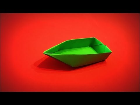 How to Make a Paper Boat that swims DIY - Easy Origami Step by Step