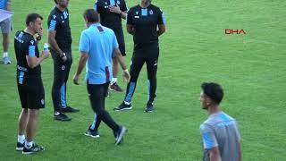 Trabzonspor antrenmanında Karaman fırça attı, Yusuf sitem etti