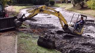 Aggravated Retention Pond Dredging