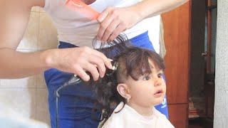 baby haircut,amazing video, girl child, hair cutting #stylistelnar