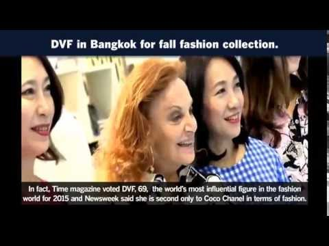 DVF in Bangkok for fall fashion collection.