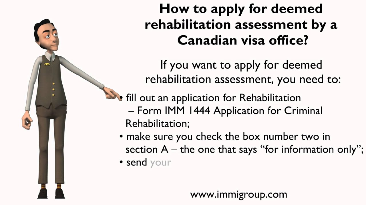 How to apply for deemed rehabilitation assessment by a Canadian ...