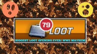 BIGGEST LOOT OPENING EVER IN WWE MAYHEM!