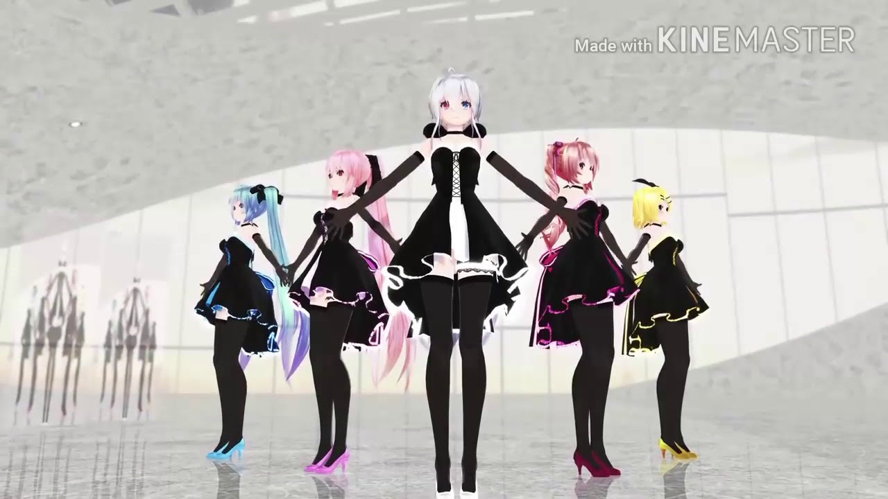 Mmd Miku And Friends Dance Cake By Ocean Dnce Youtube