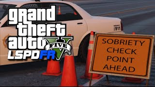 GTA 5 LSPDFR #10 - DUI Highway Checkpoint : GTA 5 Police Role Play