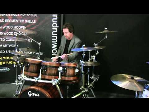 Kenny jones trying out Guru drums prototype kit