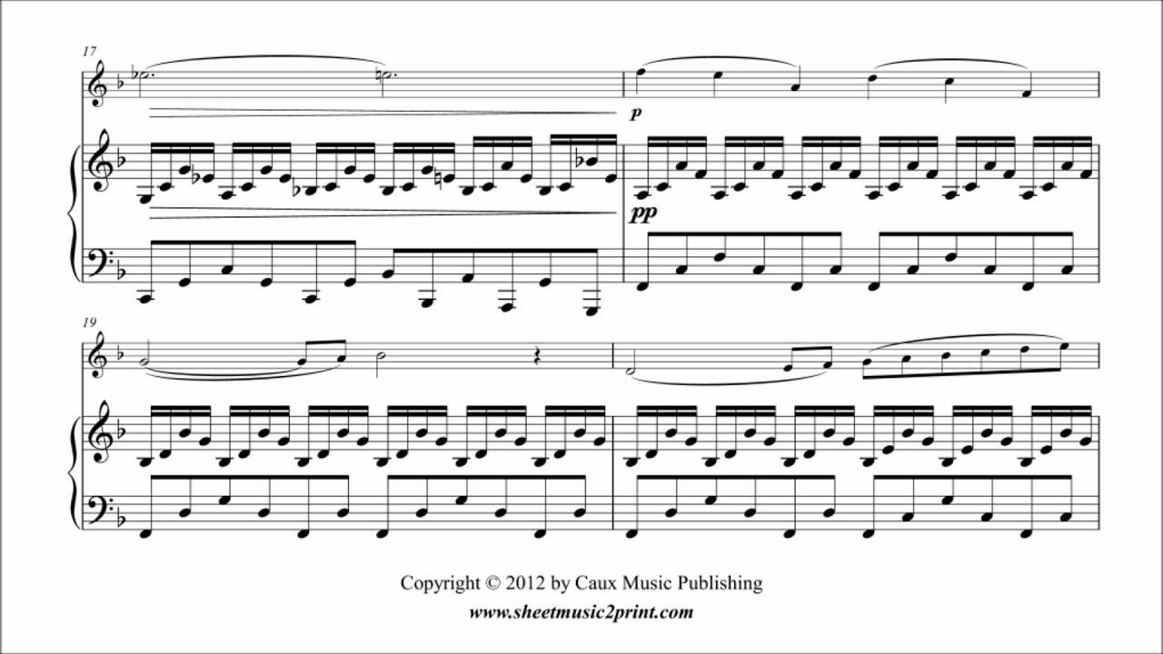 Saint-Saens : Cygne - Swan - Oboe - Sheetmusic2print com