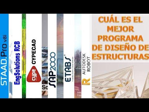 Cual es el mejor PROGRAMA DE DISEÑO DE ESTRUCTURAS | TOP 5 de programas de ingenieria HD