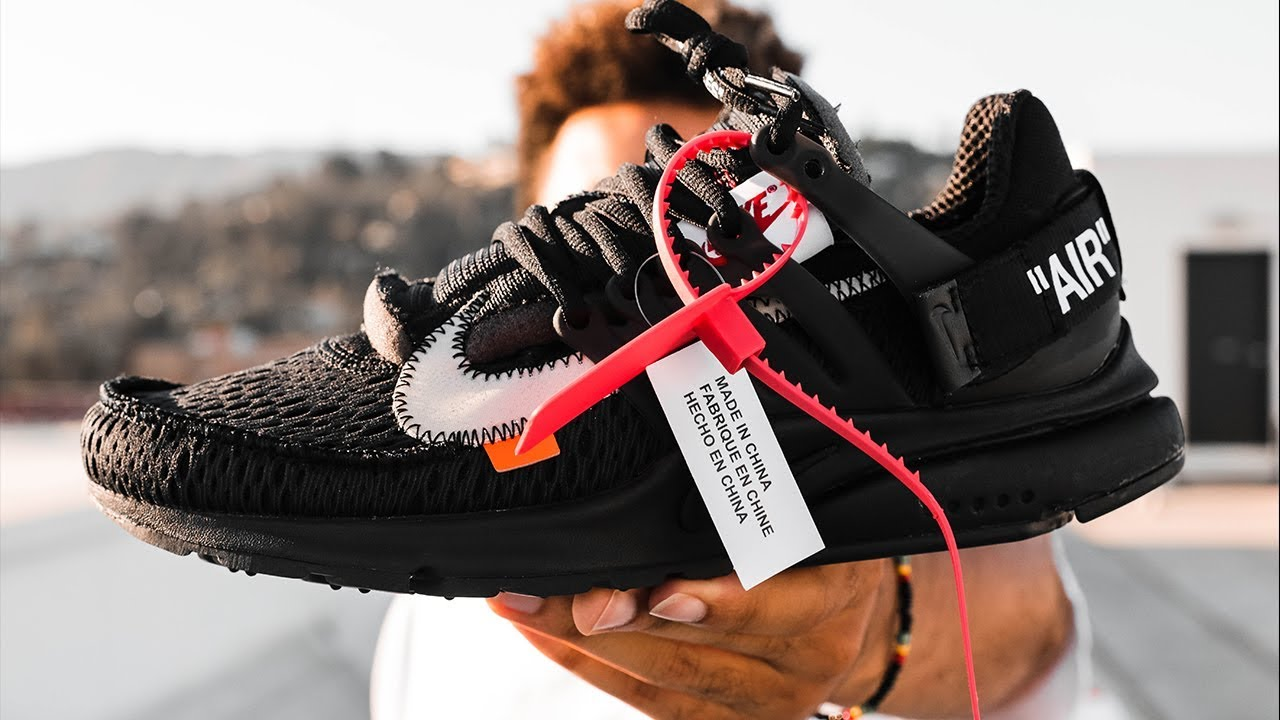 96b300d04757 OFF WHITE NIKE AIR PRESTO BLACK ON FOOT REVIEW