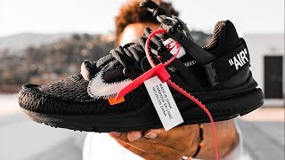 OFF WHITE NIKE AIR PRESTO BLACK ON FOOT REVIEW | A SNEAKER LIFE