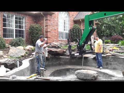 How to build a concrete koi pond youtube for How to build a concrete pond