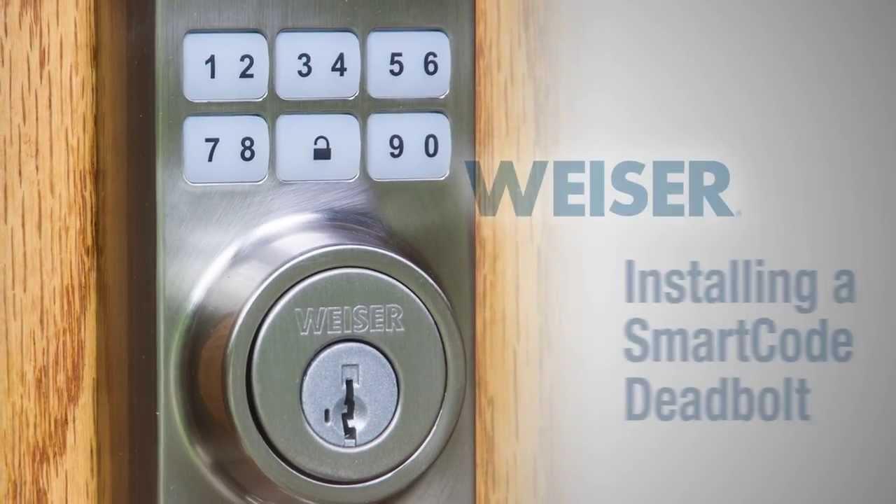 & Weiser - Smartcode Installation - YouTube