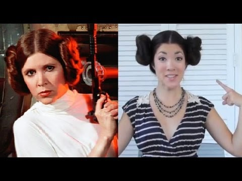 princess leia buns tutorial