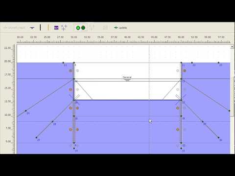 PLAXIS 2D v8 Tutorial Lesson 4 Dewatered Excavation using Tie Back Wall