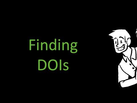 Finding DOIs for APA References