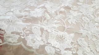 гипюр сетка вышивка цвет белый