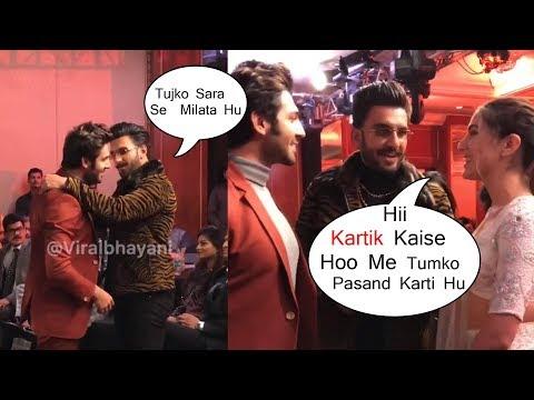 Finally Kartik Aryan & Sara Ali Khan MEET Together At Awards Show