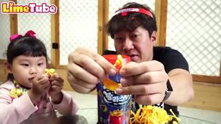 라임의 아빠와 붐블라스틱 보드게임 챌린지 벌칙게임 장난감 놀이 LimeTube & Toy 라임튜브