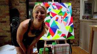How to Paint an Acrylic Art Piece Using Painter's Tape
