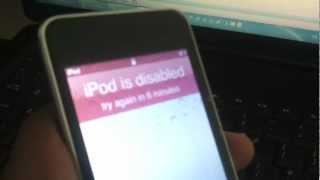 How to get data from disabled ipod touch