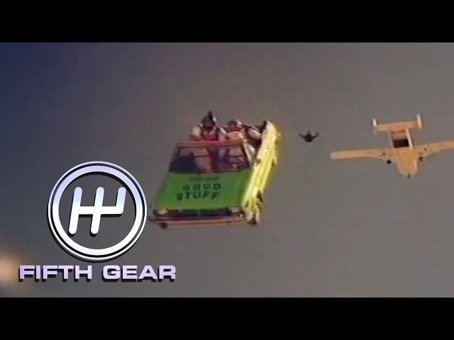 Sky Diving In A Car   Fifth Gear Classic