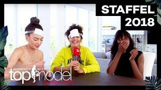 Christina, Julianna und Toni spielen 'Wer bin ich?'   Challenges   GNTM 2018   ProSieben