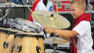 �������� ���� Drum solo - Drummer Daniel Varfolomeyev 10 years - Day city Dnepropetrovsk 2014 ������