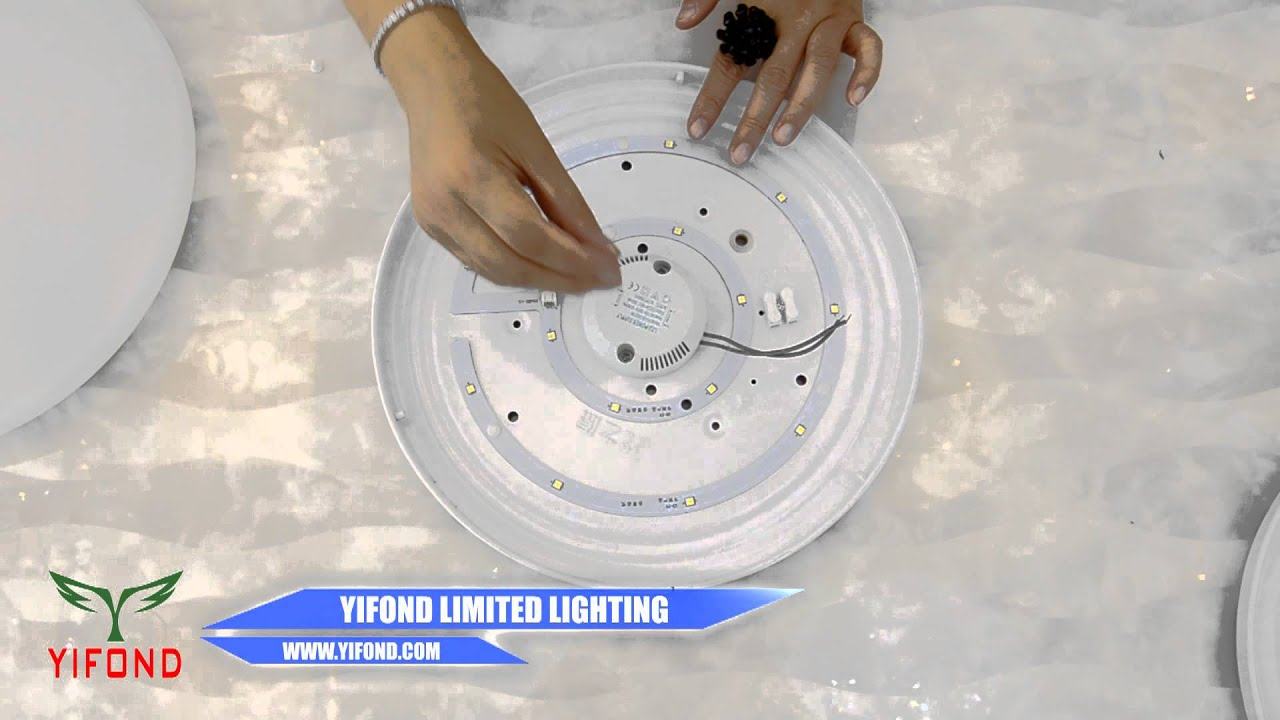 How to Install LED Lights Into Ceiling Lights Fixture - YouTube