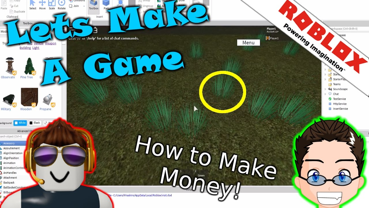 Roblox Lets Make A Game How To Make Money Youtube